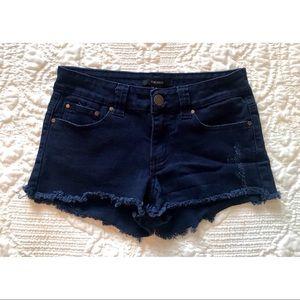 ❁∙Navy Blue Cutoff Jean Shorts∙❁